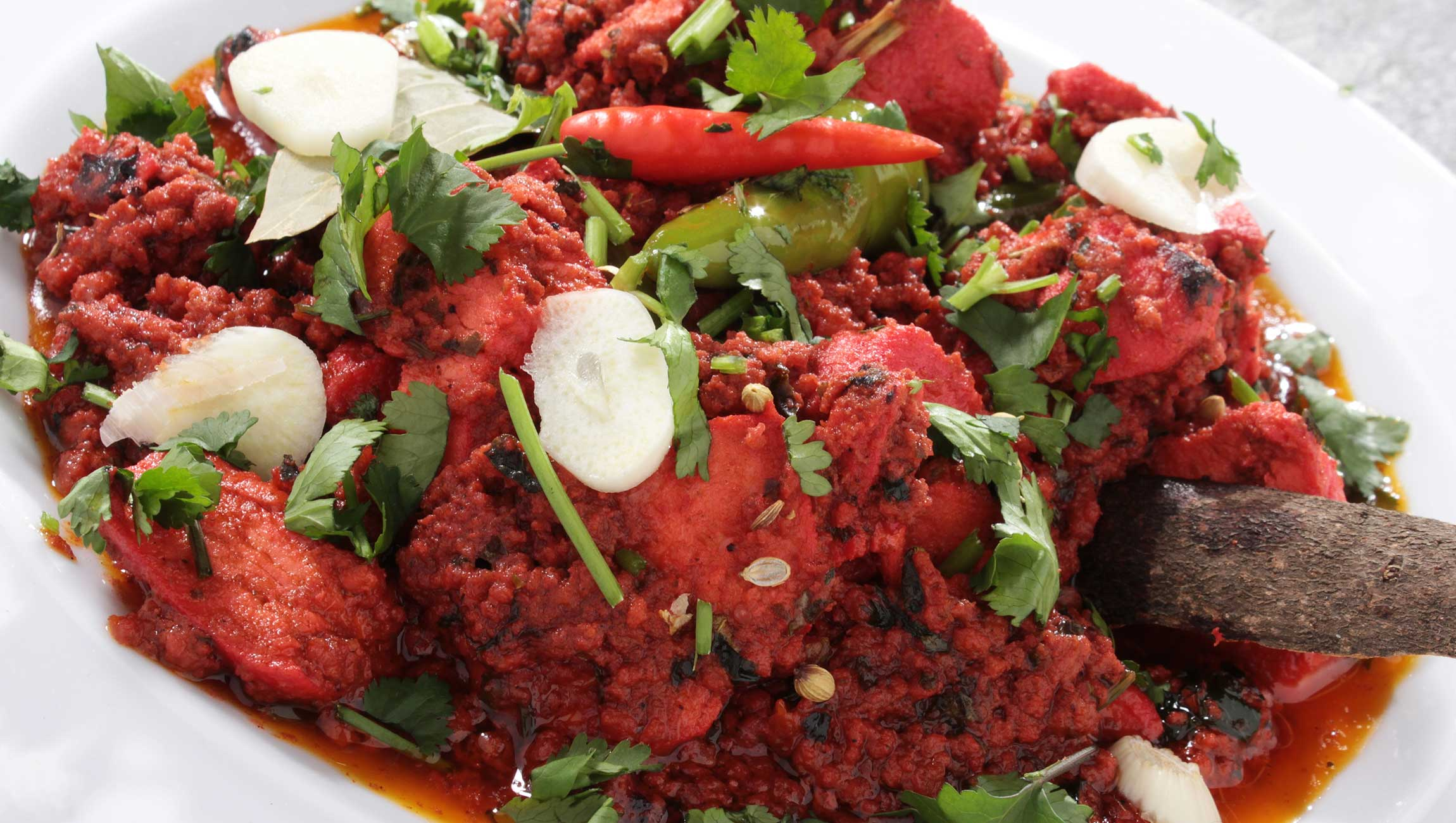 traditional indian cuisine red